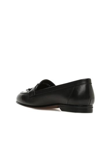 George Hogg 7003803 Kadın Deri Loafer Siyah